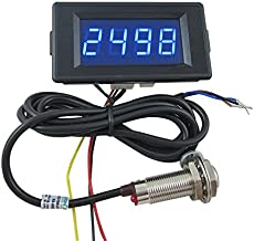 DIGITEN DC 12V 24V 4 Digital Blue LED Counter Meter up Down+Hall Proximity Switch Sensor