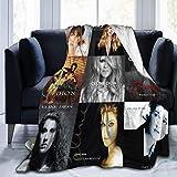 Celine Dion Couverture polaire en flanelle super douce, chaude, confortable, légère, facile d'entretien pour toutes les saisons