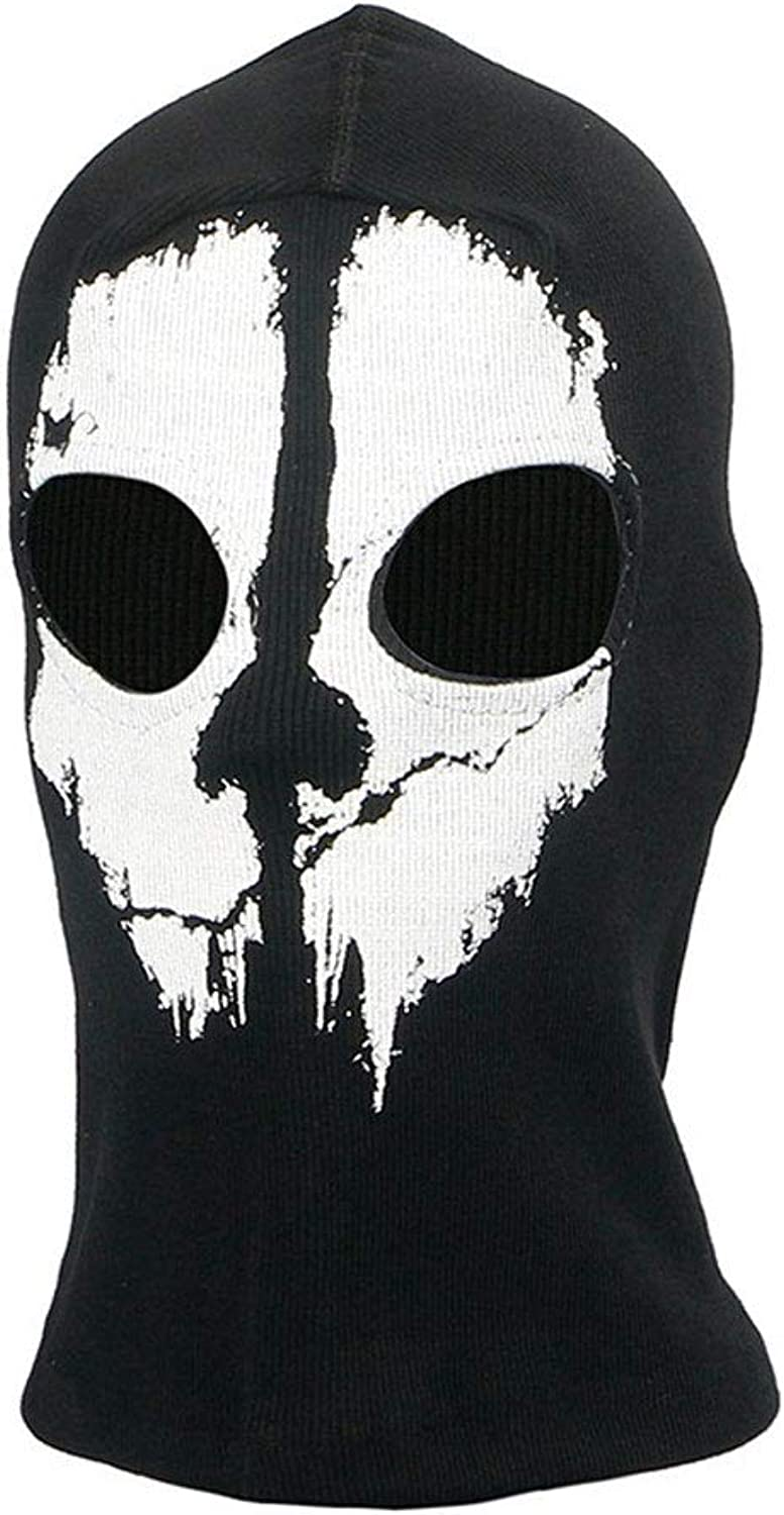 Halloween Ghost Skull Motorcycle Balaclava Mask Cycling Full Face Game Cosplay Mask Predection