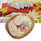 Bandeja de frutas para servir postre, frutos secos, bandeja para aperitivos, vajilla, decoración del hogar, organizador de joyas de oro, para tienda de tiendas, organizador de anillos (Ananas)