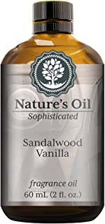 Sandalwood Vanilla Fragrance Oil (60ml) For Cologne, Beard Oil, Diffusers, Soap Making, Candles, Lotion, Home Scents, Linen Spray, Bath Bombs