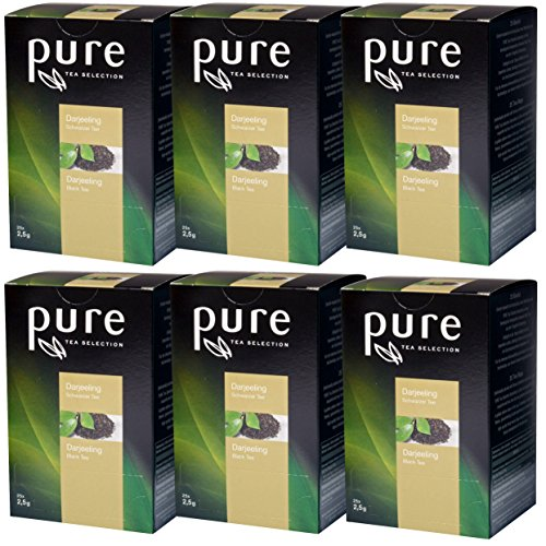 6 x Pure Tea Selection Darjeeling Schwarzer Tee a 25 Portionen Nylon Teebeutel Tchibo …