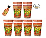 6-Pack Michelada Antojitos Mix in a 24oz Cup Ready To Use, Plus Michelada Shaker For Beer, Bloody...