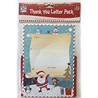 10hoja para Navidad gracias cartas Kit–de Papá Noel Letra Pack