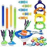iBaseToy 30 Stück Pool-Tauchspielzeuge, Unterwasser-Schwimm-Tauchspielzeug-Set - enthält...