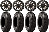Bundle - 9 Items: System 3 ST-3 Bronze 15' Wheels 30' BFG KM3 Tires [4x156 Bolt Pattern 12mmx1.5 Lug Kit]