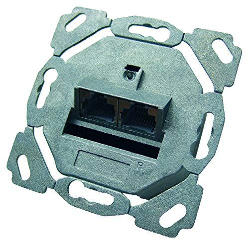PROTEC.net PDD6 - Caja de conexiones (cat. 6,2 x RJ45, sin placa central)