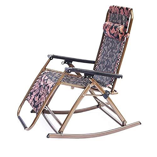 AWJ Tumbona Plegable para jardín, Silla reclinable para Cama, Patio, jardín Trasero, Camping, Picnic, Playa, Relajante, al Aire Libre, cómodo Asiento Plegable