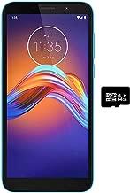 Điện thoại di động Android – Motorola Moto E6 Play (32GB, 2GB RAM) 5.5″, Dual SIM GSM Unlocked (AT&T, T-Mobile, Cricket, Metro Etc.) XT2029-1 – International Model (Ocean Blue, 32GB + 64GB SD + Case Bundle)
