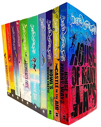 Chrestomanci Series & Howl's Moving Castle Series 10 Books Collection Set By Diana Wynne Jones