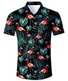 Idgreatim Männer Freizeithemd Jungen Kurzarm Button Down Hemden Shirts Freizeit Slim Fit T Hemden Shirt
