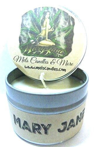Mary Jane (Marijuana Aroma) 4 Ounce All Natural Handmade Soy Candle Tin