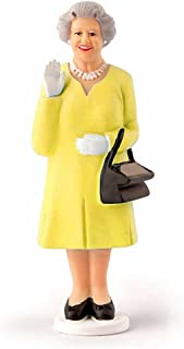Kikkerland Royal Wedding Solar Queen Collectible Figure, Yellow