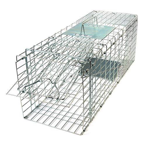 Gardigo - Jaula & Trasportín plegable de metal para mascota | Trampa de captura de animales vivos, gatos, perros, conejos, roedores - 66 x 23 x 26 cm