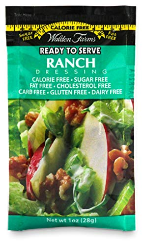 Walden Farms Ranch Salad Dressing - No Calories, Fat, Carbs, Sugar, Gluten, Dairy or HFCS- 1 Oz. Single Serve Packets, 100-Count (123333)