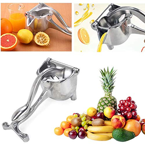 ZYY-Home curtain Fruit Juicer Manual, Stainless Steel Citrus Juicer Orange Lemon Fruit Squeezer Grinder Fresh Juice Tool Kitchen Gadget,Silber