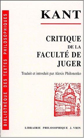 Critique de la faculté de juger