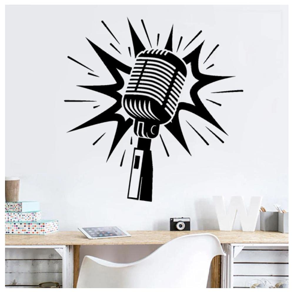 aksldf Musica Excellent Microfono Adesivo Musical 5% OFF Karaoke Vinile