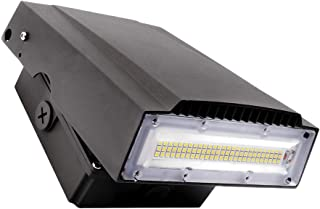 ELECALL 50W LED Wall Pack Adjustable Fixture, 150W HID Replacement, 5000K Daylight, 6000 Lumens, Waterproof and Outdoor Rated, IP65, ETL Listed