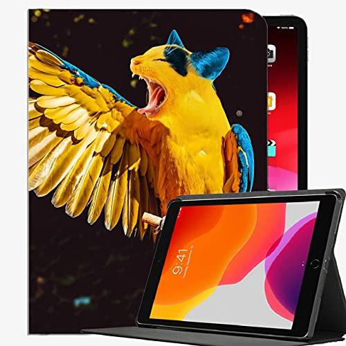Caso FIT iPad Pro 9.7 Pulgadas de 9.7 Pulgadas de la Tableta de Lanzamiento Solo (A1673 / A1674 / A1675), Parrot Cat Photoshop Case Shell Delgado Cubierta para iPad Pro 9.7