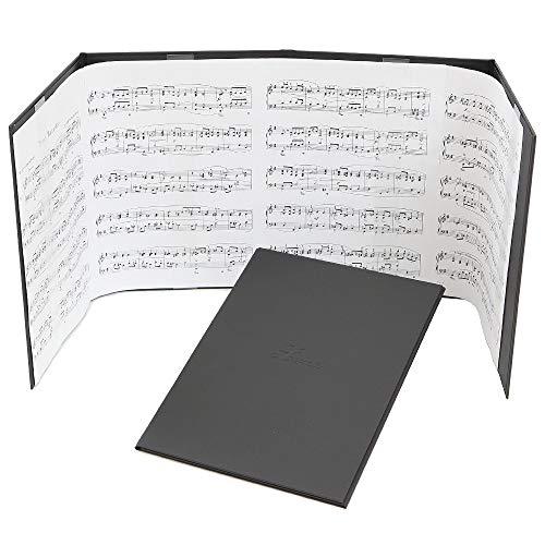 楽譜台紙 4面 ハードタイプ 4ページ楽譜ファイル(譜面止め付き) 楽譜1枚から長くつないだ楽譜まで【楽譜 ファイル 楽譜クリップ 楽譜スタンド 楽譜カバー 楽譜かくし 楽譜バインダー ピアノ ギター】 日本製