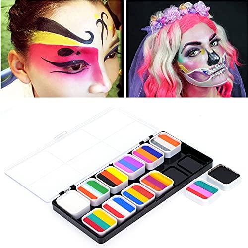 SHYEKYO Schminkfarben, wasserlösliche Pigmente reich an Farben Bodypaintingfarben für Festivals, Karneval, Lagerfeuer oder Themenpartys