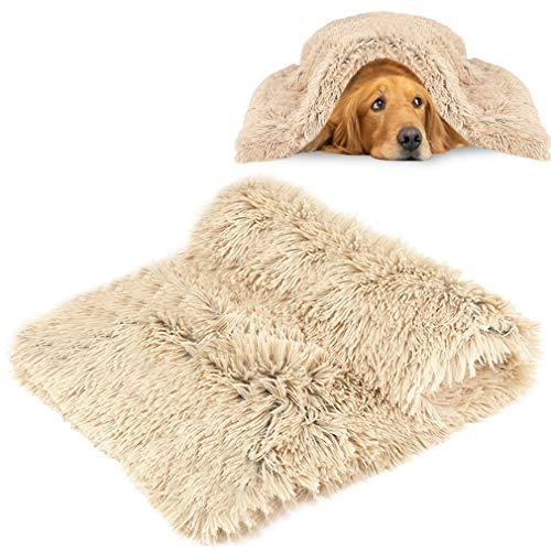 MMTX Esponjosas Felpa Mantas para Camas para Perros Gatos Colchón Doble Lado Mantas Mascotas Suave y Linda Cálido Manta Lavable Gatos y Perros para Cama de Perro Sofá y Vehículos Beige