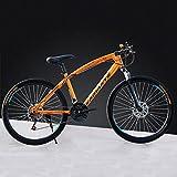 Haute qualité 26 Pouces VTT Adulte, 21/24/27 Vitesse, vélo à Vitesse Variable vélo, Cadeau étudiant de vélos (Color : Orange, Size : 21)