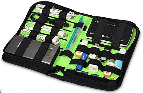 Soporte de almacenamiento de tejido de nylon/Cartera/Case/Bolsa/unidades de unidades de organizador para unidades flash USB/Pulgar/Pen Drives/Jump & HDD/banco de la energía/tarjeta SD/iPod/teléfono celular