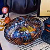 ZHEYANG Juguetes Dinosaurios Adornos de Escritorio de Escultura de Resina de Huevo de dragón Transparente de Cristal de ensueño Model:G01309(Color:Blue;Size:Bare Egg)