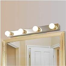 Hollywood Spiegellamp, spiegellamp, frontlamp, wandlamp, roestvrij staal, E27 x 3/4/5 hoofden, badkamer, kaptafel, gardero...