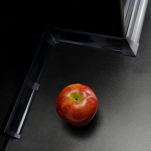 3,0m WINKELLEISTEN 23mm Schwarz SET - 3m Abschlussleiste mit Gummilippen oder Zubehör – 2 x Endstück, 2 x innenecke, 2 x Aussenecke, 2 x Verbinder