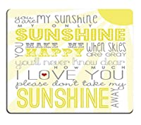 ゲーミングマウスパッドカスタム、あなたは私の太陽の光でカスタマイズされた長方形滑り止めラバーマウスパッドゲーミングマウスパッド