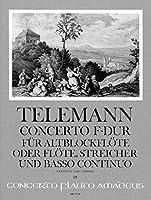 TELEMANN - Concierto en Fa Mayor (TWV:51/F1) para Flauta de Pico Alto (Flauta), Cuerdas y BC