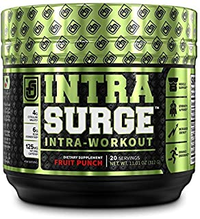 INTRASURGE Intra Workout Energy BCAA Powder - 6g BCAA Amino Acids, Natural Caffeine, 4g Citrulline Malate, and More for Mu...