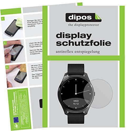 dipos I 6X Schutzfolie matt kompatibel mit DIGGRO DI03 Smartwatch Folie Displayschutzfolie