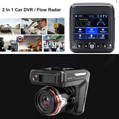 SL 2 en 1 HD 1080p Voiture Dash Cam Radar Vitesse détecteur de Camera Video Recorder DVR