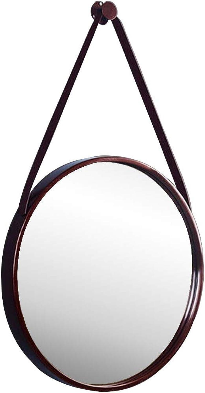 Concise Wall Mount Mirror Round Metal Frame Dressing Bathroom Mirror Makeup Hallway Creative Mirror Modern Decoration (Diameter  11.8-31.5 Inch)