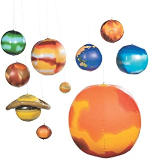 Fun Express 10 Pc Inflatable Solar System/Science/Educational Tool INFLATE/Teacher