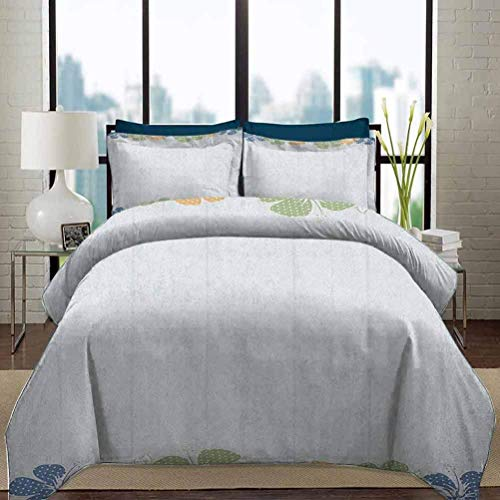 Ropa de cama Juego de funda nórdica Conjuntos de ropa de cama universitarios florales Exóticos Marco de flores de hibisco Flores florecientes Diseño de inspiración floral ornamental Juego de cama de 3