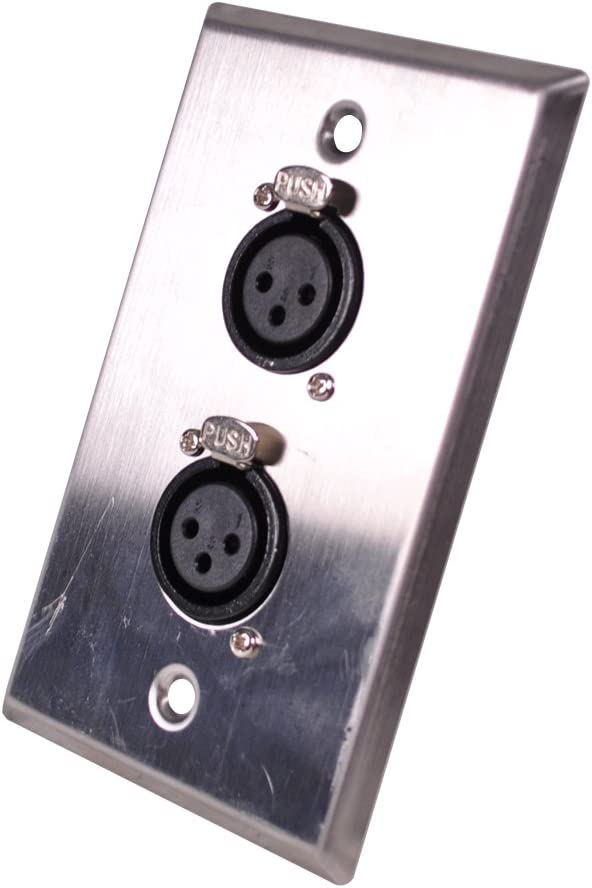 Seismic Audio SA-PLATE42 Stainless Steel -Dual Mail order Fe Wall Plate Fort Worth Mall XLR