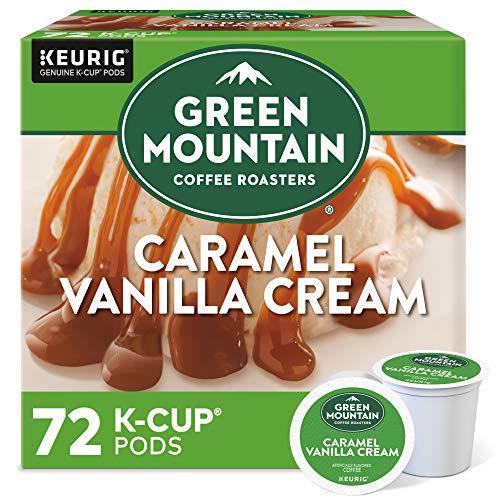Green Mountain Coffee Roasters Caramel Vanilla Cream, Single Serve Coffee K-Cup Pod, Flavored Coffee