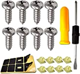 8PCS Stainless Steel License Plate Screws-Rust Resistant Screws Kit License Plate Bolts Fasteners for Securing License Plate Frame,3/4' M6x20 Self-Tapping Phillips Pan Head Sheet Metal Screws