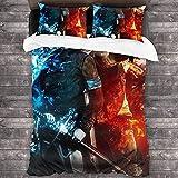 Juego de funda de edredón de 3 piezas para cama de Devil May Cry C10909