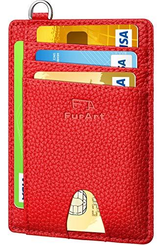 FurArt Klein Geldbörse für Herren und Damen,RFID Schutz Kreditkartenetui, Mini Portemonnaie Geldbeutel