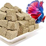 5OZ Freeze Dried Tubifex Worm Cubes for Aquatic Tropical Fish and Freshwater Fish