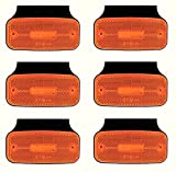 12 / 24 V LED 6 luces de posición laterales con soportes para remolque de chasis de camión