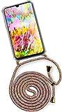 ONEFLOW® Handykette kompatibel mit Samsung Galaxy A50 / A30s - Handyhülle mit Band zum Umhängen Case Abnehmbar Smartphone Necklace - Hülle mit Kette, Regenbogen Bunt