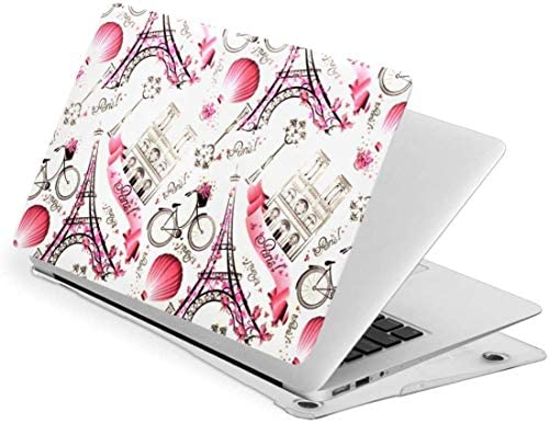 Pink Paris Eiffel Tower and Balloon Case for MacBook Air 13 Inch 2020 2019 2018 New Version product image
