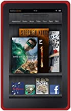 Amzer Soft Silicone Jelly Skin Fit Case Cover for Amazon Kindle Fire (2011) - Red